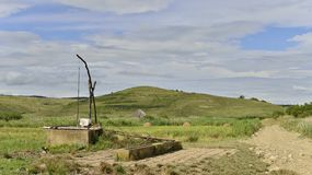 Landscape with the reed natural reserve from Sic and sweep fountain. Royalty Free Stock Photography
