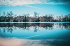 Landscape reflection Royalty Free Stock Photography