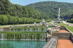 Landscape reggia di Caserta Stock Image