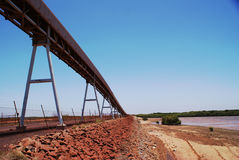 Landscape of the remote region. Mining Town Port Hedland (Pilbara), Western Australia Royalty Free Stock Images