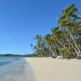 Landscape of a remote tropical beach in Fiji Stock Photos