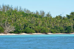 Landscape of a remote tropical beach in Nanuya Levu island Fiji Royalty Free Stock Images