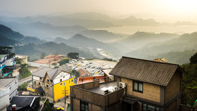 Landscape of residential building at Jiufen Royalty Free Stock Photography
