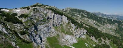 Retezat mountains-panoramic view Royalty Free Stock Photo
