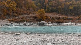 Landscape with retouching of orange teal 2 royalty free stock photo