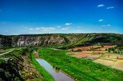 Landscape of Reut river in Orhey region Moldova Stock Photo