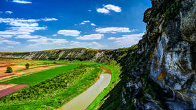 Landscape of Reut river in Orhey region Moldova Royalty Free Stock Image