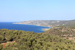 Landscape of Rhodes shore Royalty Free Stock Image
