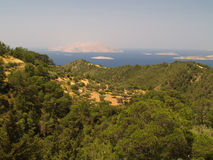Landscape of Rhodos, Greece Royalty Free Stock Photo