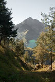 Landscape of Rinjani, Lombok, Indonesia. royalty free stock image