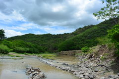 Landscape of the Rio Coco river in Somoto, Nicaragua. Landscape of the Rio Coco, the largest river of Central America. It is located in Somoto, Nicaragua Stock Image