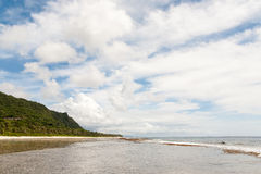 Landscape of Ritidian Beach in Guam. USA royalty free stock image
