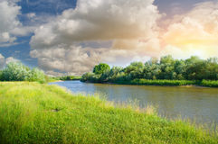 Landscape with river Stock Images