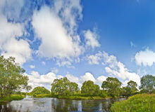 Landscape with river Stock Photography