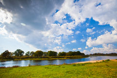Landscape with a River Royalty Free Stock Photography