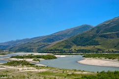 Landscape with river, Albania Stock Image