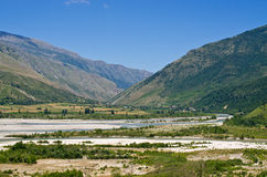 Landscape with river, Albania Stock Photo