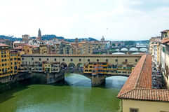 Landscape of river Arno with bridges, Florence, Italy Royalty Free Stock Image