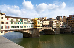 Landscape of river Arno and Ponte Vecchio bridge, Florence, Italy Stock Photography