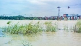 Landscape  of a River Bank.Damodar. INDIA.Asansol Royalty Free Stock Images