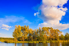 Landscape With River And Blue Sky Royalty Free Stock Photography