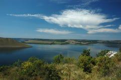 Landscape of river Dniestr,Ukraine royalty free stock images
