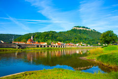 Landscape on the River Elbe Stock Photos