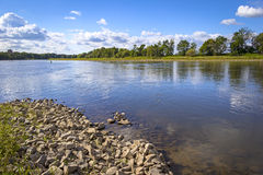 Landscape on the River Elbe near Dessau. (Germany). The River Elbe is one of the major rivers of Central Europe. The River Elbe rolls through Dresden, enters on Stock Photography