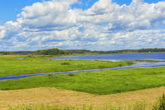 Landscape with the river Royalty Free Stock Photos