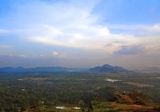 Landscape, river, forest panorama from Lion mountain in Sigiriya , Sri Lanka Stock Images