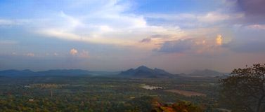 Landscape, river, forest panorama from Lion mountain in Sigiriya , Sri Lanka Stock Photography