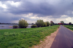 Landscape with the river IJssel Stock Image