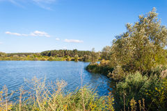 Landscape river Kharkiv Stock Photography
