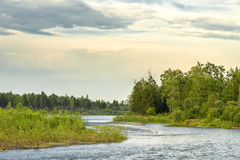 Landscape on the river Kitoy. Stock Photos