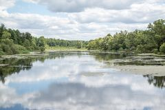 Landscape of the river or lake Royalty Free Stock Photos