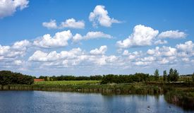 Landscape with river and nature in the countryside Royalty Free Stock Image