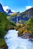 River and waterfall in Norway stock photos
