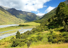 Landscape with river in New Zealand Royalty Free Stock Photography