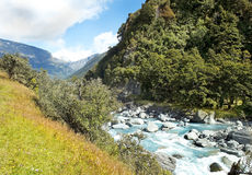 Landscape with river in New Zealand Stock Images