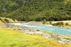 Landscape with river in New Zealand Royalty Free Stock Images