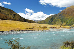 Landscape with river in New Zealand Stock Photos
