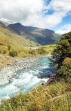 Landscape with river in New Zealand Stock Image