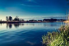 Landscape on the river Nogat, spring, Poland Stock Photography
