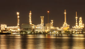 Landscape of river and oil refinery factory Stock Image
