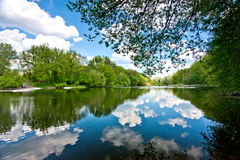 Landscape of river Ros Stock Images