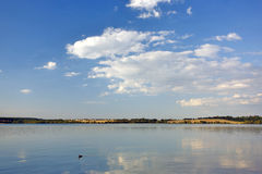 Landscape with river and sky. Landscape with river and blue sky Stock Photo