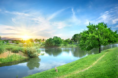 Landscape with the river Royalty Free Stock Images