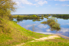 Landscape with river Royalty Free Stock Photo