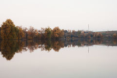 Landscape with river at sunset Royalty Free Stock Photo