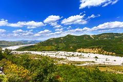 Landscape of a river with Trees and sky Stock Images